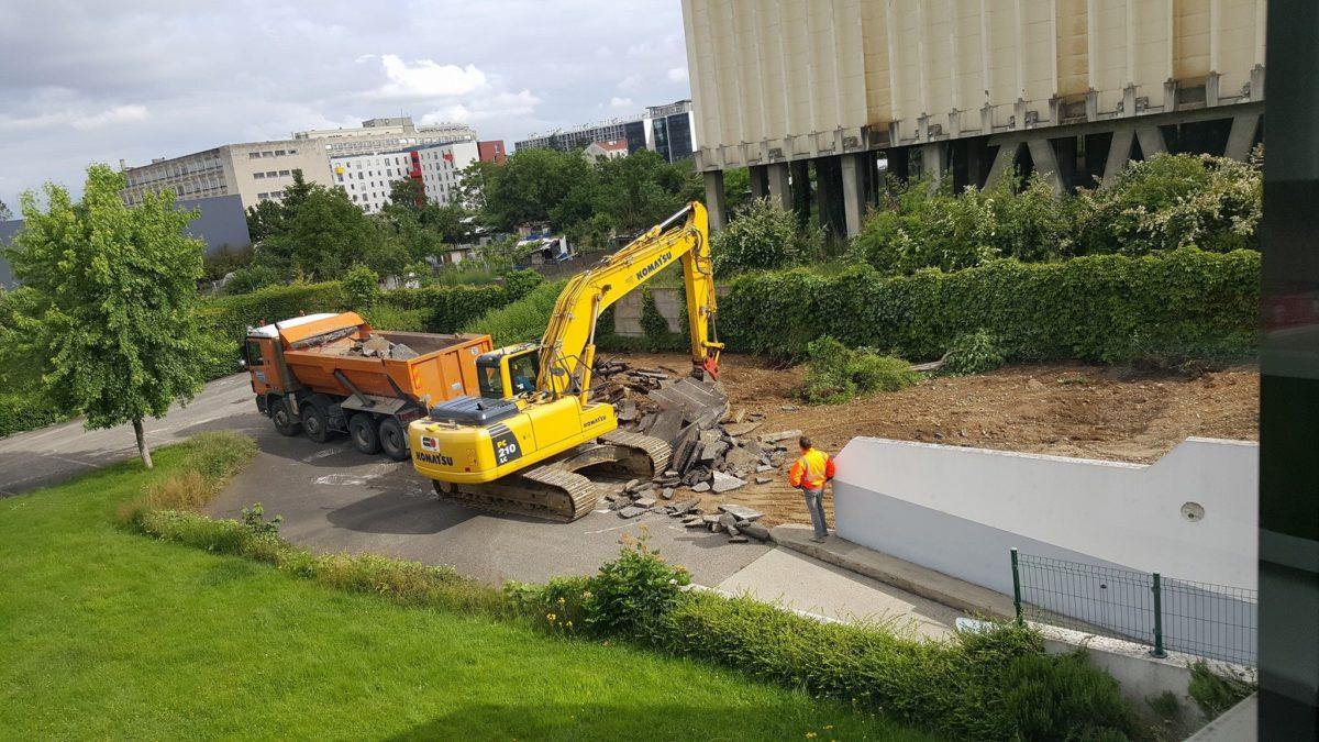 L'avancement des travaux au mois d'Août 2016