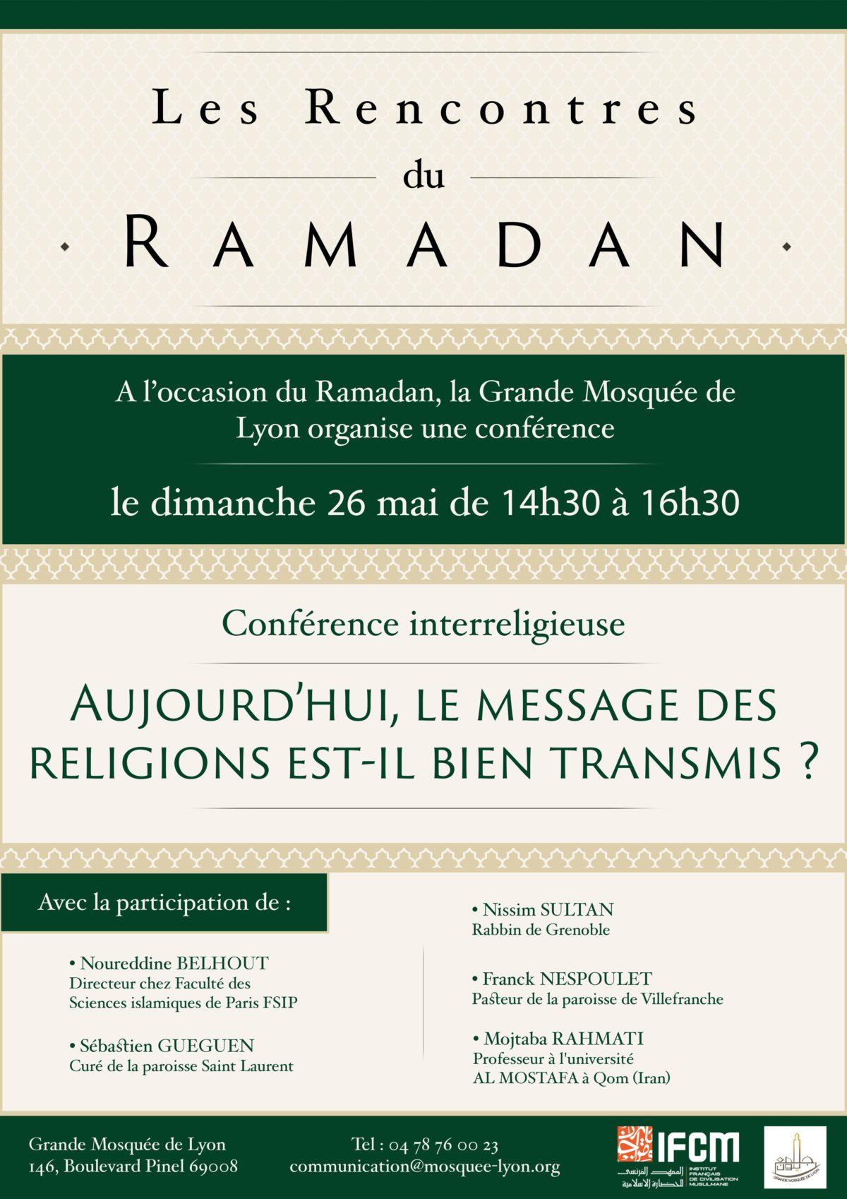 Aujourd'hui, le message des religions est-il bien transmit ?