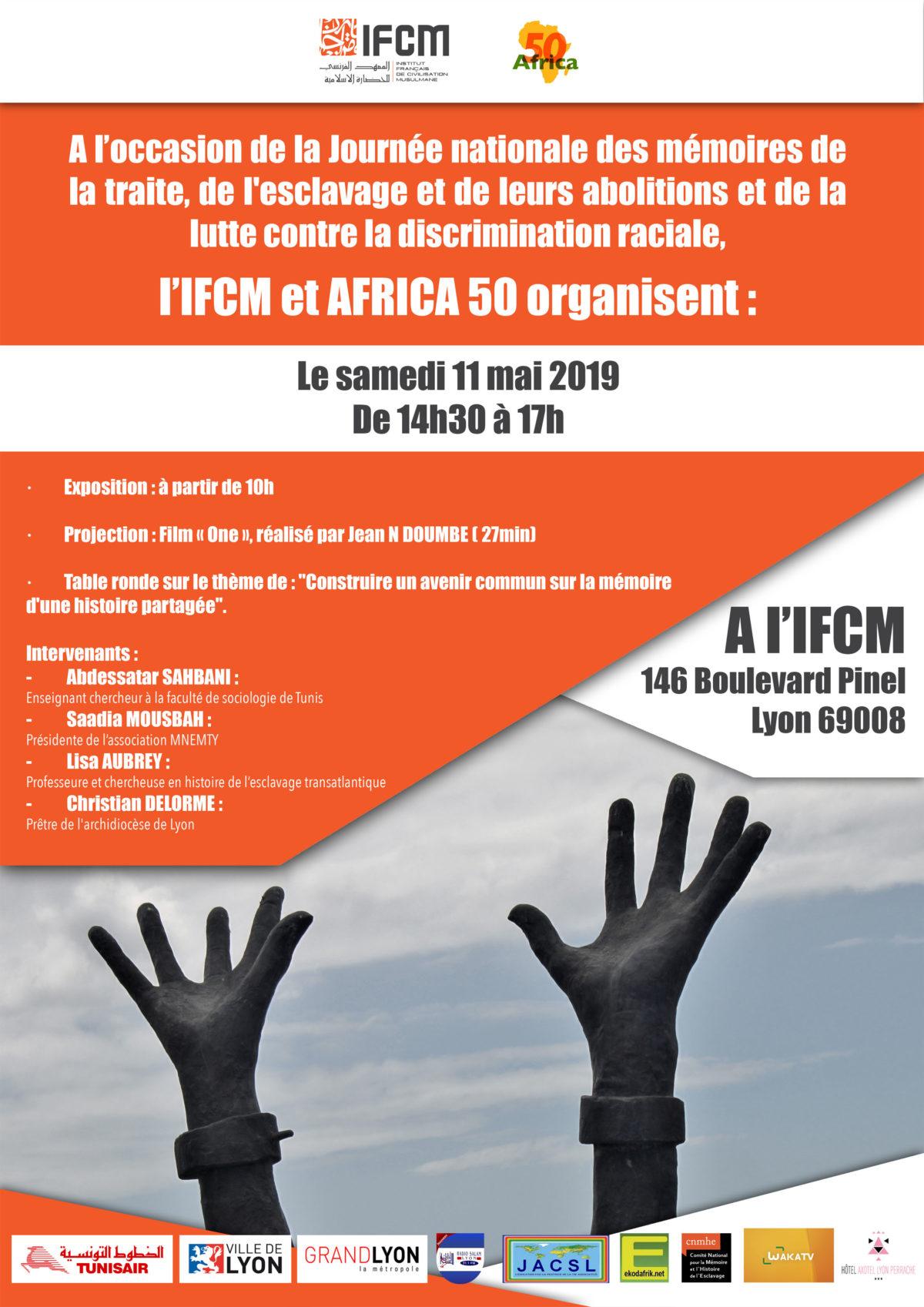 Annulée: Journée nationale des mémoires de la traite, de l'esclavage et de leurs abolitions et de la lutte contre la discrimination raciale